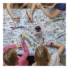 Tafellaken Wereldkaart